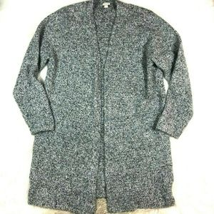 J.Crew Factory Gray Open Front Cardigan Sweater